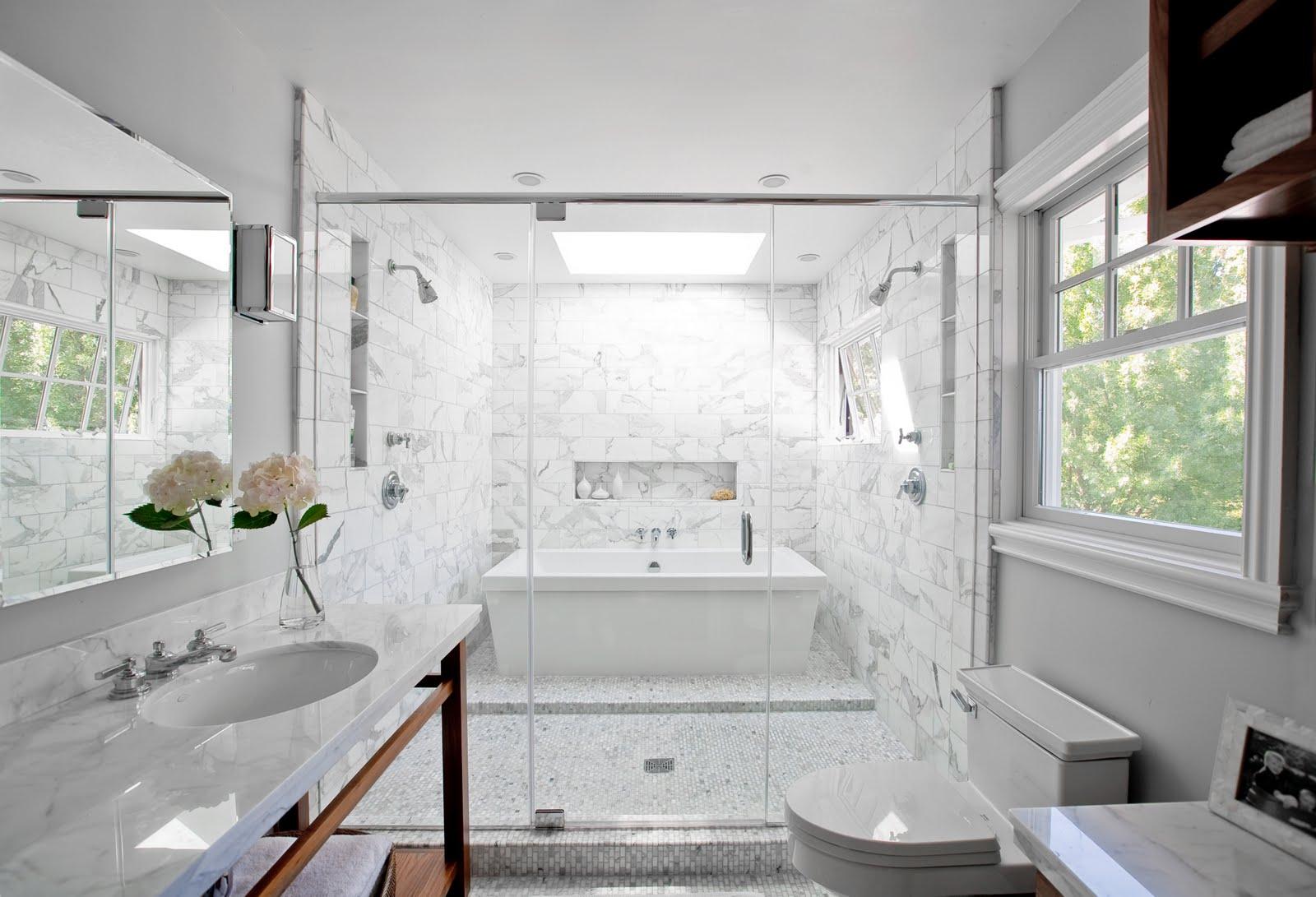 Casa de banho em mármore Carrara